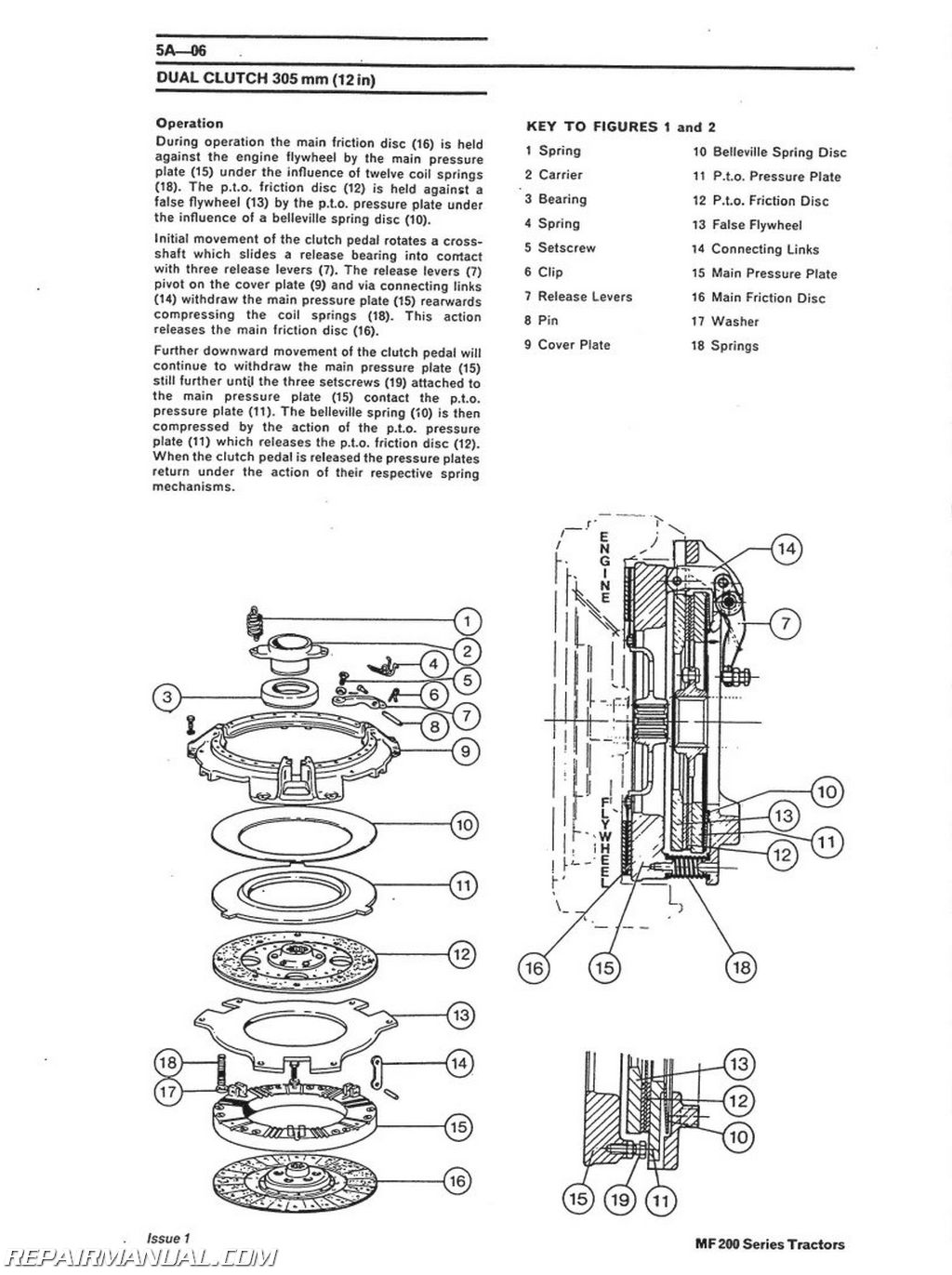 Massey Ferguson 165 Wiring Diagram from www.repairmanual.com