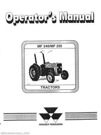 massey ferguson mf240 and 250 operators manual massey ferguson 250 service manual free download Massey Ferguson 240 Service Manual