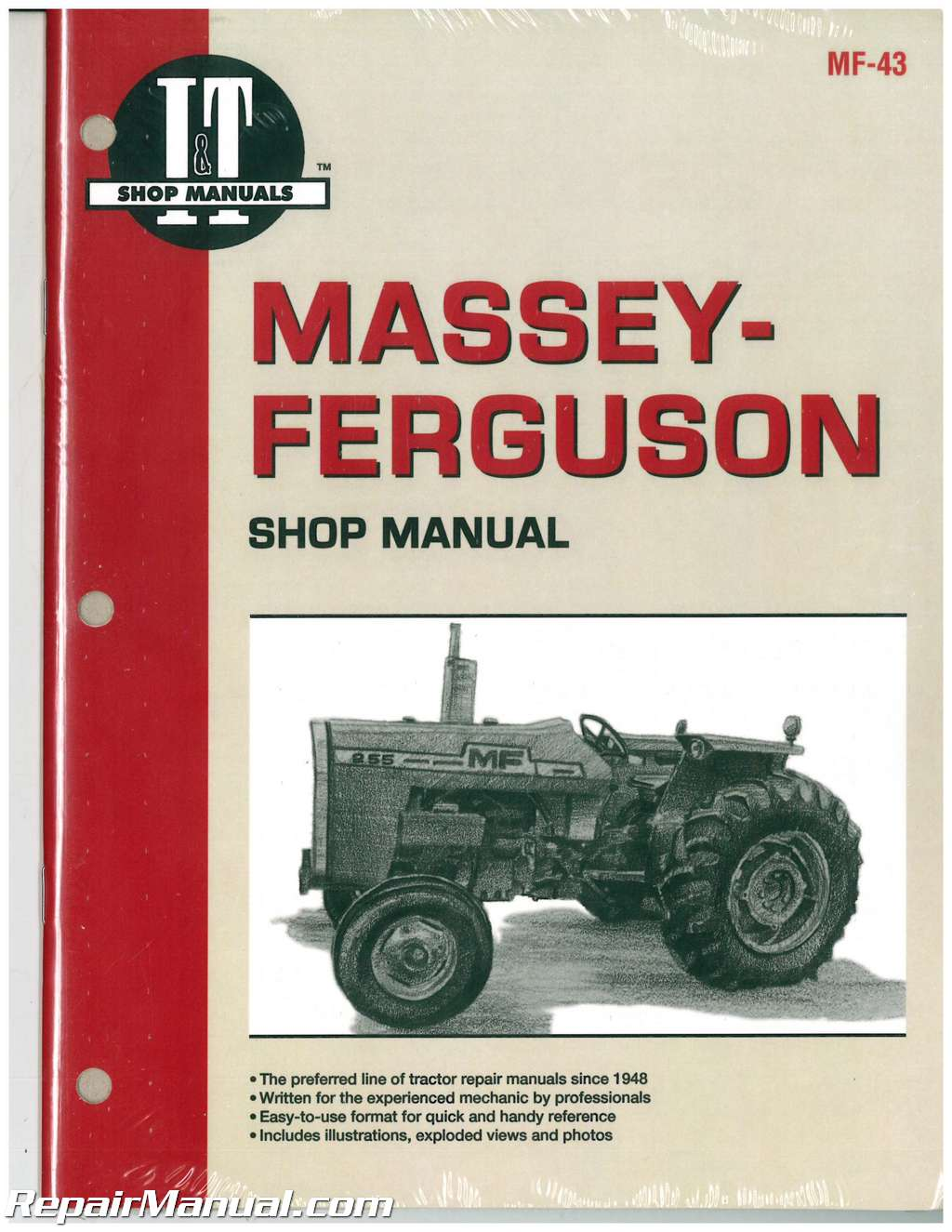 massey ferguson mf255 mf265 mf270 mf275 mf290 tractor manual rh repairmanual com massey ferguson 165 manual massey ferguson 265 parts manual