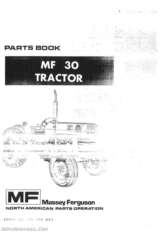 Massey Ferguson Mf 30 Service Manual Mf40 Tractor Ignition Switch Wiring Diagram Mf30 Parts Rh Repairmanual Com Repair Pdf 261
