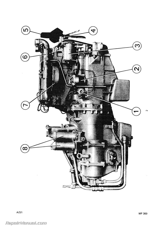 massey ferguson mf300 diesel crawler loader angledozer service manual