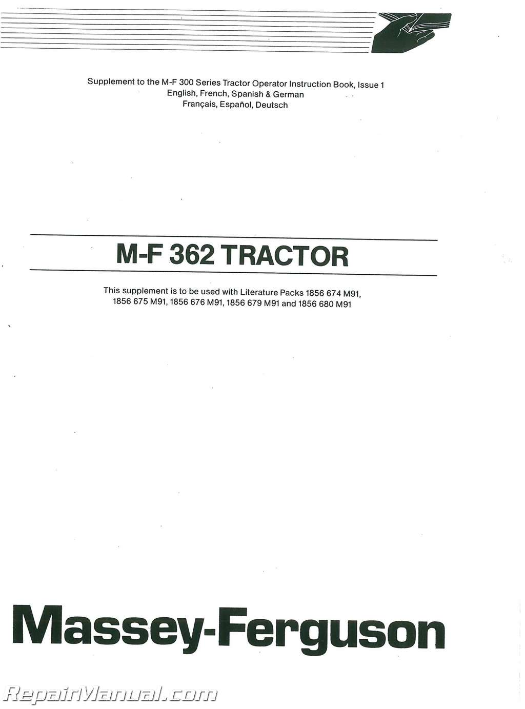 Massey Ferguson 699 Manual Kenworth T800 Wiring Schematic Diagrams Electrical Darren Array Mf350 Mf399 Dsl Tractor Operators Rh Repairmanual