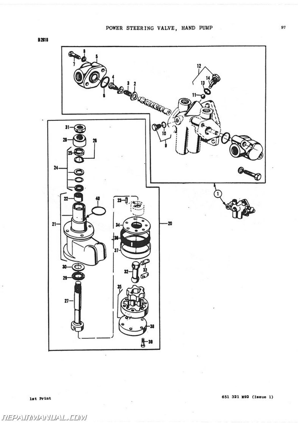 massey ferguson power steering parts diagram  diagrams