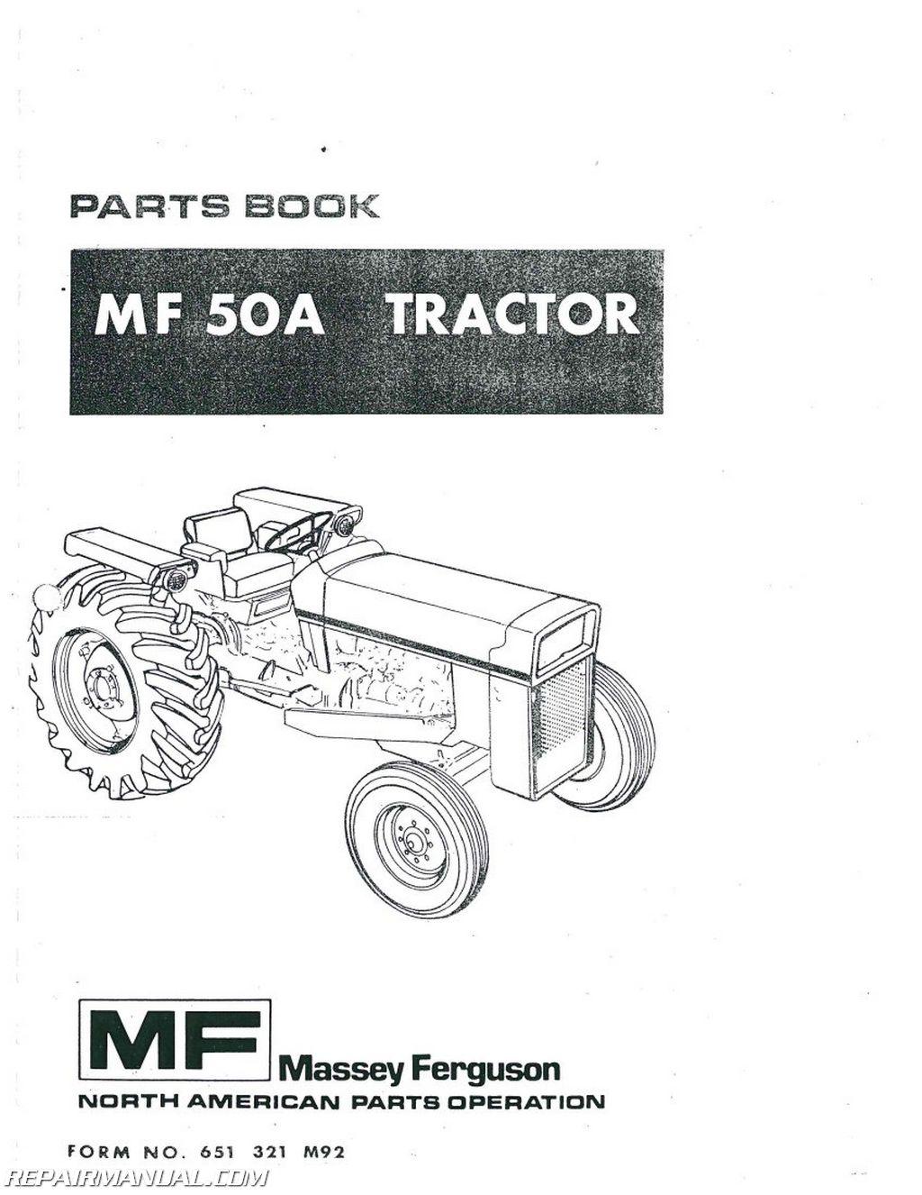 Massey Ferguson Repair Parts : Massey ferguson mf a dsl ind tractor parts manual ebay