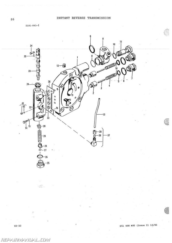 Massey Ferguson Mf60 Tractor Loader Backhoe Factory Parts Manual Js Mh P Mf60