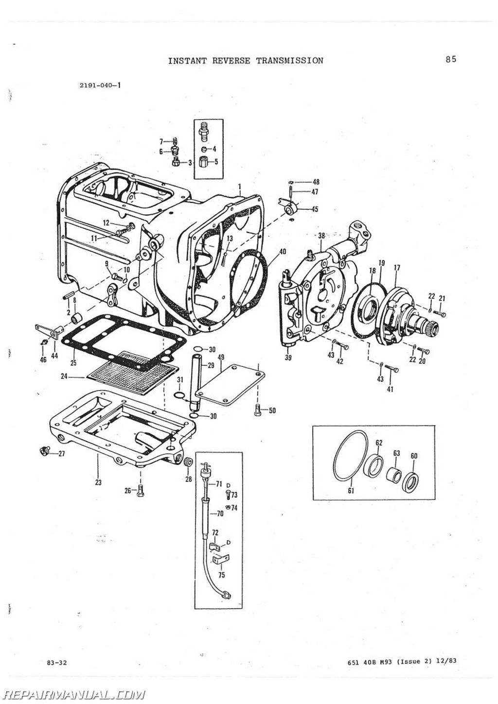 Massey Ferguson 65 Parts Diagram : Massey ferguson mf tractor loader backhoe parts manual