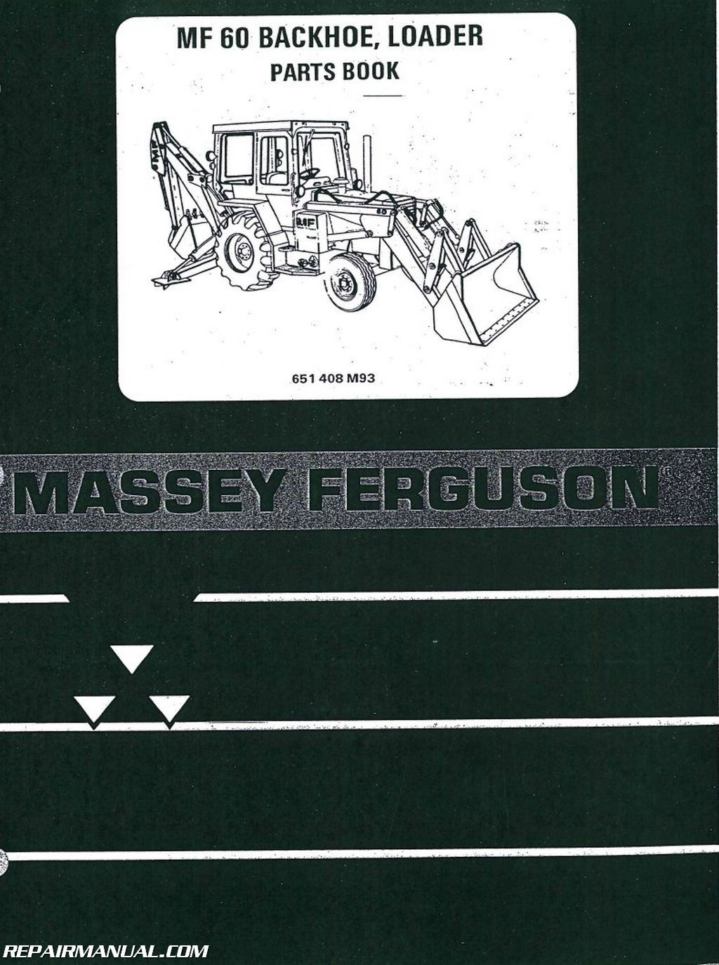 Massey-Ferguson MF60 Tractor Loader Backhoe Parts Manual
