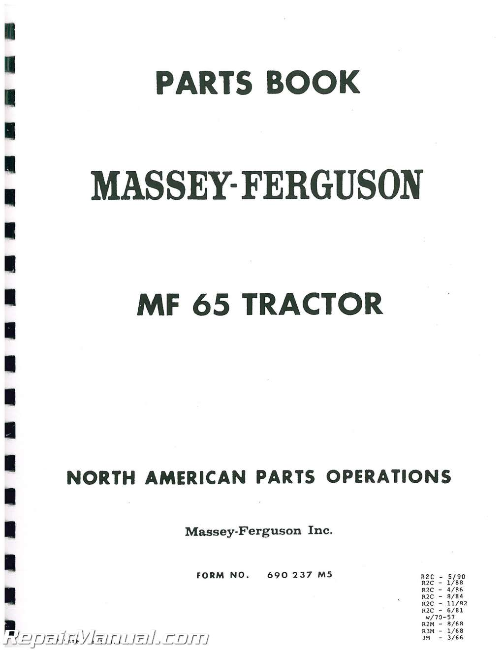 Massey Ferguson 65 Parts Diagram : Massey ferguson mf glpdsl parts manual