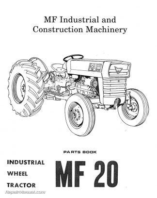 Massey-Ferguson Model MF20 MF25 MF30 Industrial Wheel Tractor Parts Manual