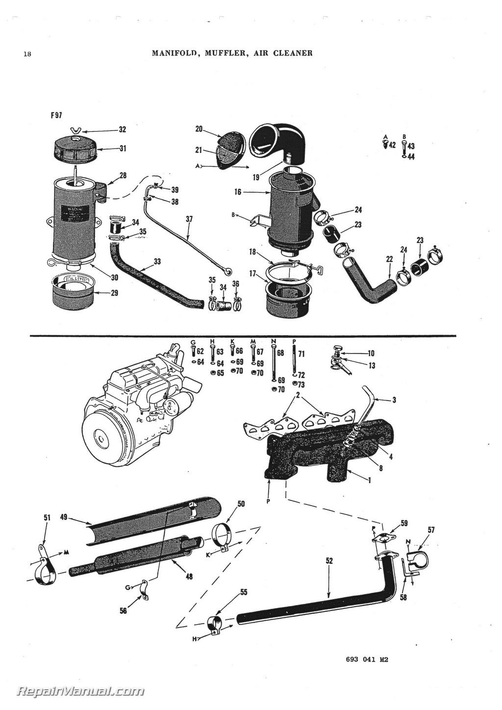 Massey Ferguson TO 30 TO 20 TE 20 TEA 20 Parts Manual