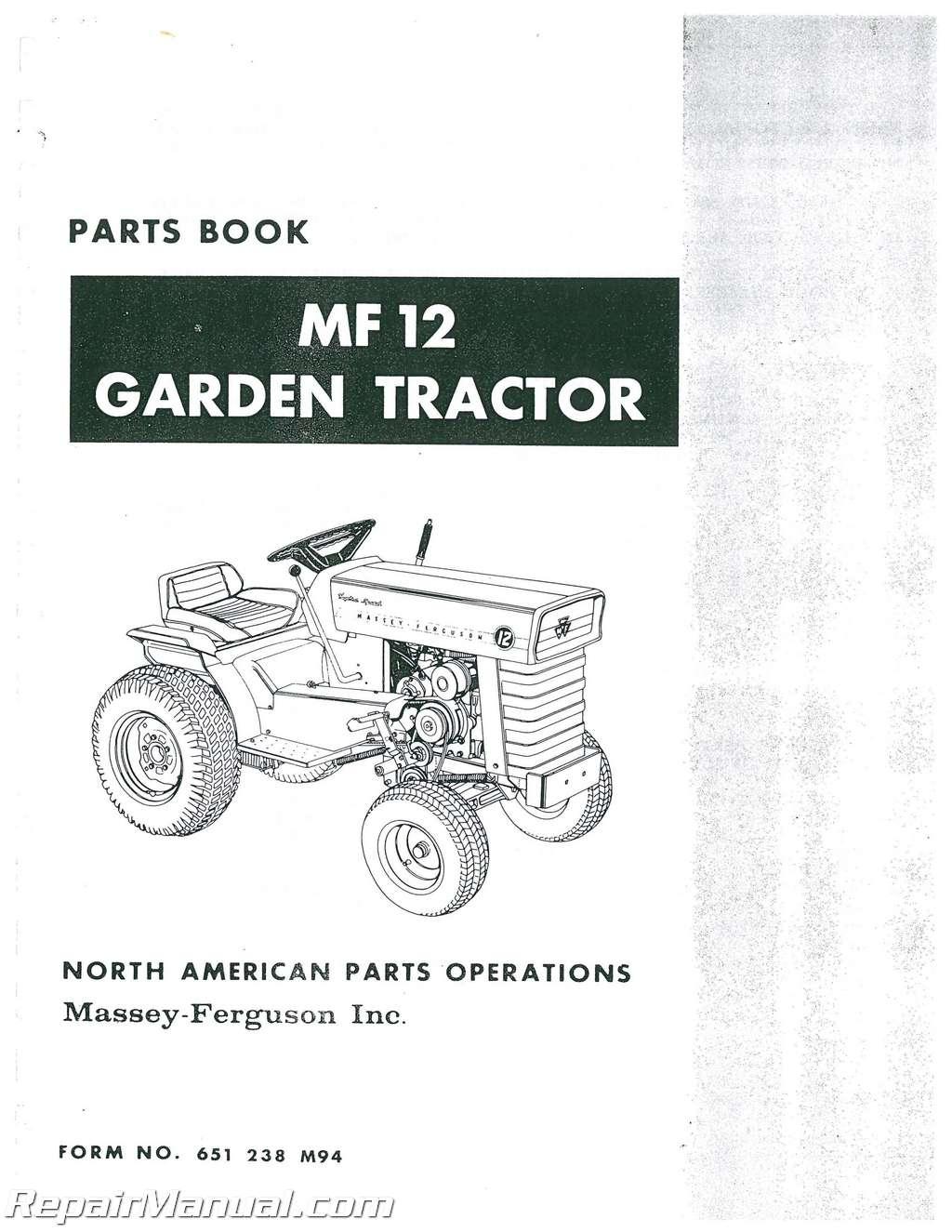 Massey Ferguson Garden Tractor Parts : Massey ferguson mf garden tractor with equipment parts