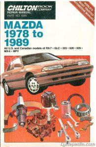 mazda 1978 1989 rx 7 glc 323 626 929 mx 6 chilton car. Black Bedroom Furniture Sets. Home Design Ideas
