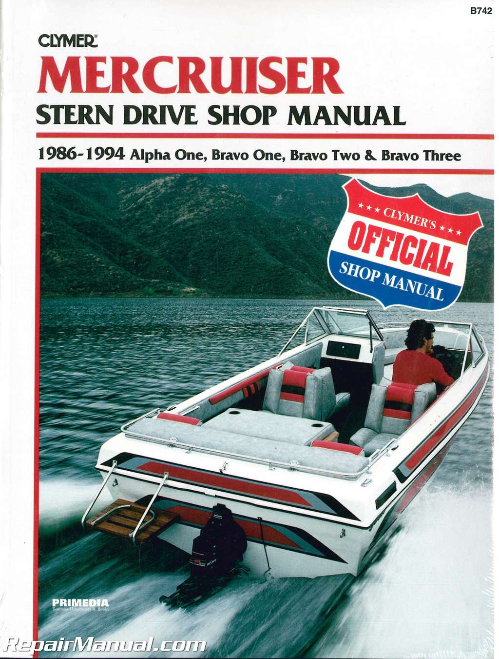 Mercruiser Alpha One, Bravo One, Bravo Two, Bravo Three 1986-1994 Stern  Drive Boat Engine Repair Manual