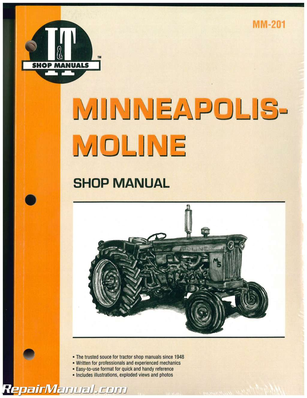 minneapolis moline shop service farm tractor manual mm 201 ebay