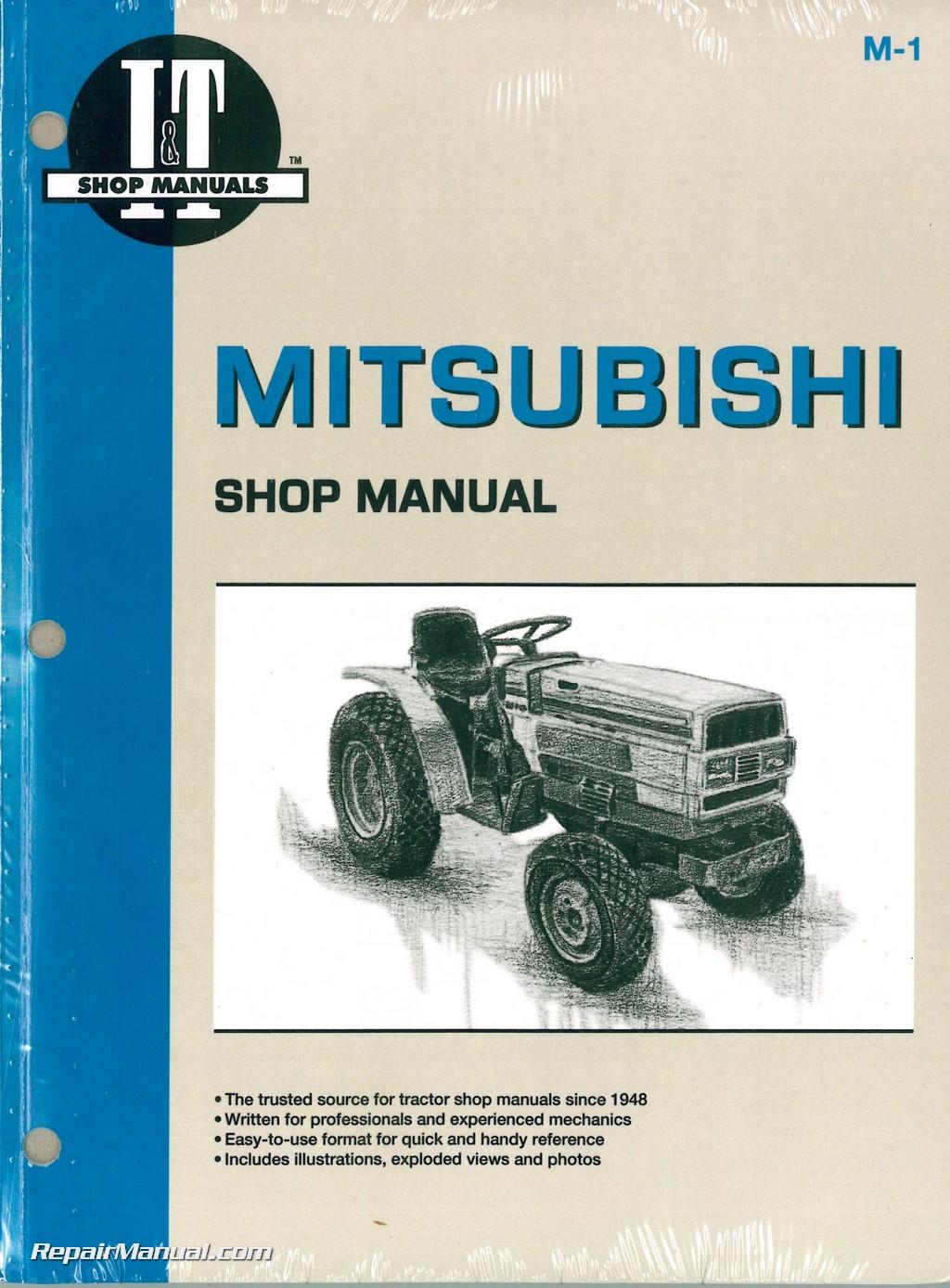 Mitsubishi MT160 MT160D MT180 MT180D MT180H MT180HD MT210 MT210D MT250  MT250D MT300 MT300D Tractor Repair Manual