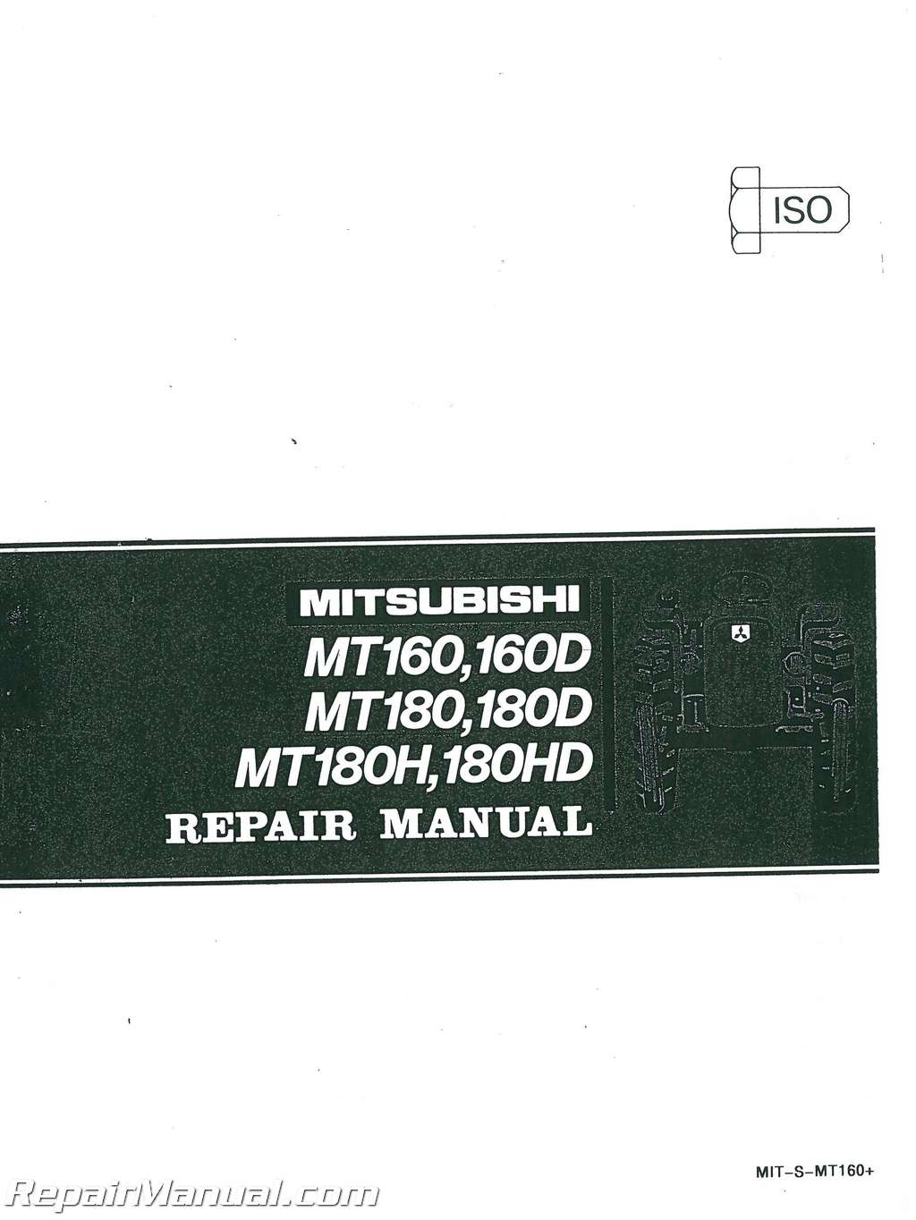 Golf Cart Dimensions >> Mitsubishi MT160 MT160D MT180 MT180D MT180H MT180HD Service Manual