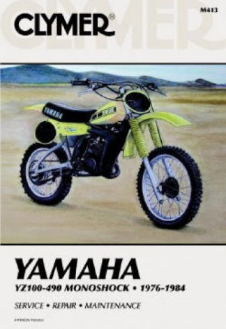 1976 - 1984 Yamaha YZ100 – YZ490 Monoshock Clymer Repair Manual