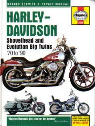 Haynes Harley-Davidson Big Twin Motorcycle 1970-1999 Repair Manual