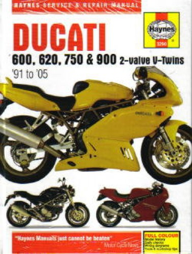 haynes ducati 600 750 900 2-valve v-twins 1991-2005 repair manual