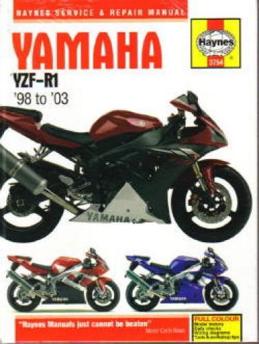 haynes yamaha yzf r1 1998 2003 motorcycle repair manual rh repairmanual com 2001 Yamaha R1 1997 Yamaha R1