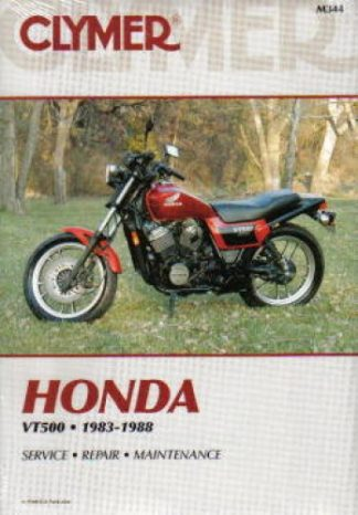 1983-1988 Honda VT500 Ascot Shadow Motorcycle Repair Manual by Clymer