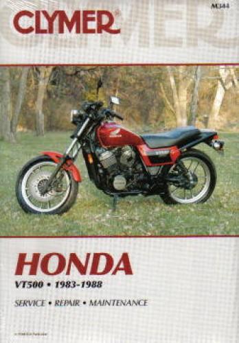 1983-1988 Honda VT500 Ascot Shadow Motorcycle Repair Manual by Clymer