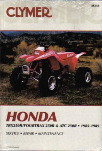 Honda TRX 250R Fourtrax 250R ATC 250R 1985-1989 Repair Manual by Clymer