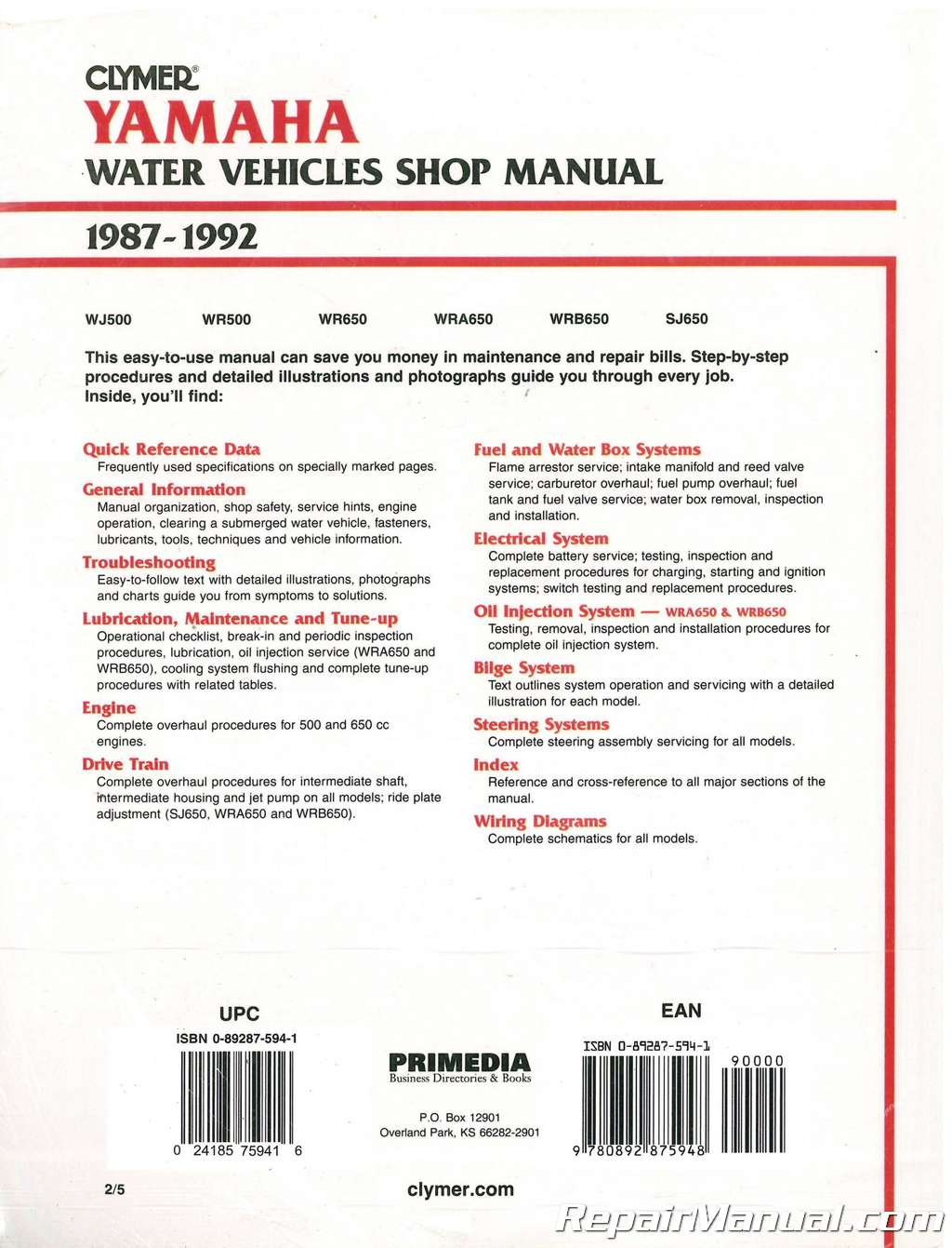 ... NOS-1987-1992-Yamaha-Waverunner-Wavejammer-Personal-Watercraft-