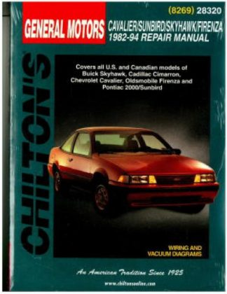 Chilton GM Cavalier Skyhawk Sunbird Firenza 1982-1994 Repair Manual