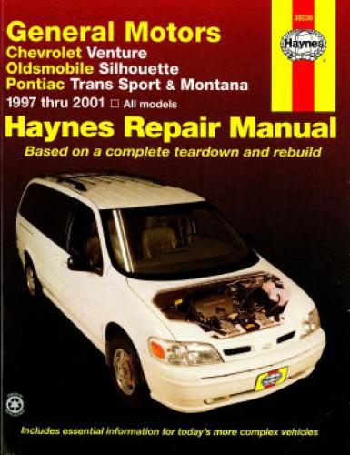 Haynes Gm Chevrolet Venture Oldsmobile Silhouette Pontiac