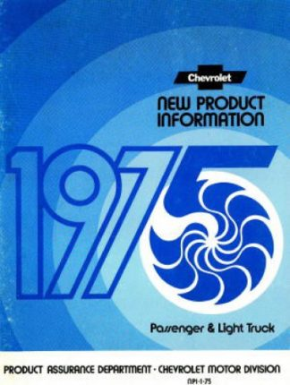 Chevrolet New Procuct Information Manual 1975 Used