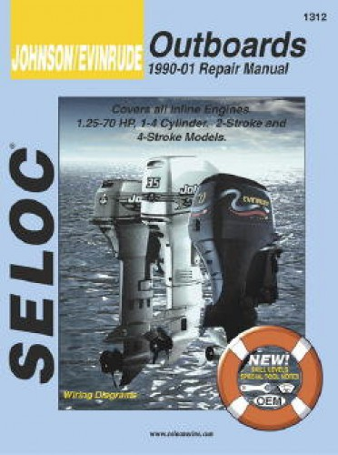 Seloc 1990-2001 Johnson Evinrude Inline Outboard Boat Engine Repair Manual