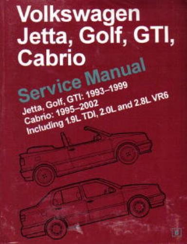 volkswagen jetta golf gti cabrio service manual 1993 2002 rh repairmanual com 2002 vw cabrio manual pdf 2002 volkswagen cabrio owners manual