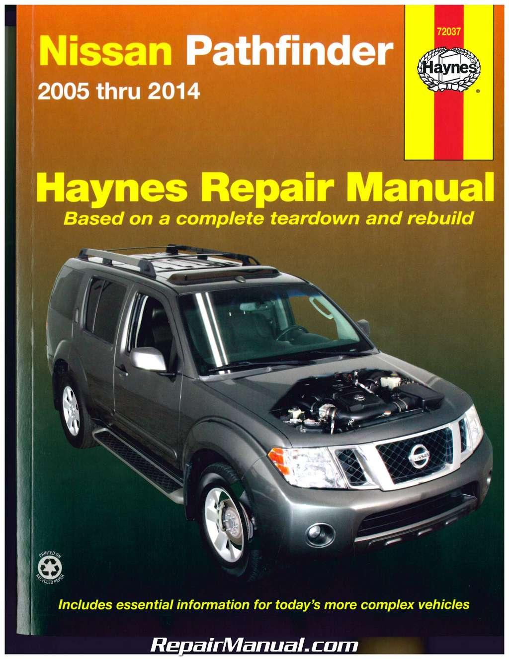 nissan pathfinder 2005 2014 haynes suv repair manual rh repairmanual com