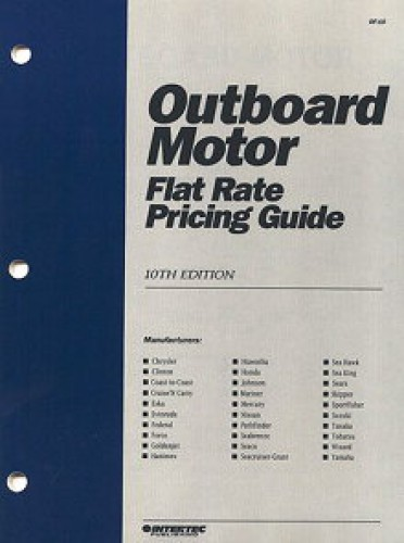 Marine Outboard Motor Flat Rate Labor Manual Amp Pricing Guide