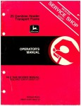 Used Official John Deere 25 Combine Header Transport Frame Factory Operators Manual