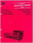 Used Official John Deere Draper Platform for 7700 Combine Factory Operators Manual