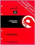 Used John Deere 712 Mulch Tiller Operators Manual