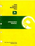John Deere 1600 Integral Moldboard Plow Operators Manual