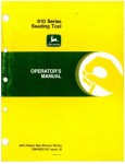 Used John Deere 610 Series Seeding Tool Operators Manual