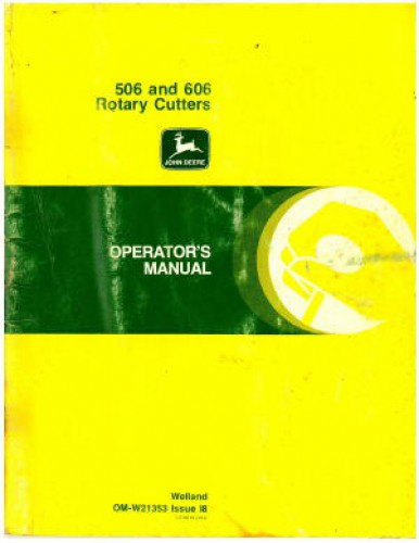 John Deere 506 And 606 Rotary Cutter Operators Manual