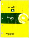 Used John Deere 148 Farm Loader Operators Manual