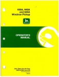 Used John Deere 630A, 640A and 645A Windrow Pickup Operators Manual