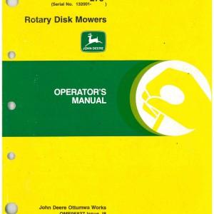 John Deere 265 And 275 Rotary Disk Mowers Operators Manual