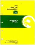 Used Official John Deere 3710 Drawn Flex Moldboard Plow Factory Operators Manual