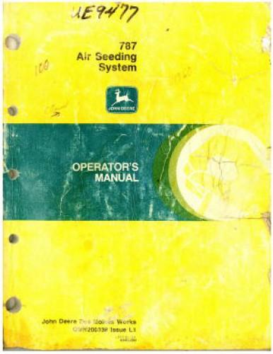 used john deere 787 air seeding system operators manual rh repairmanual com John Deere 8020 John Deere Planter