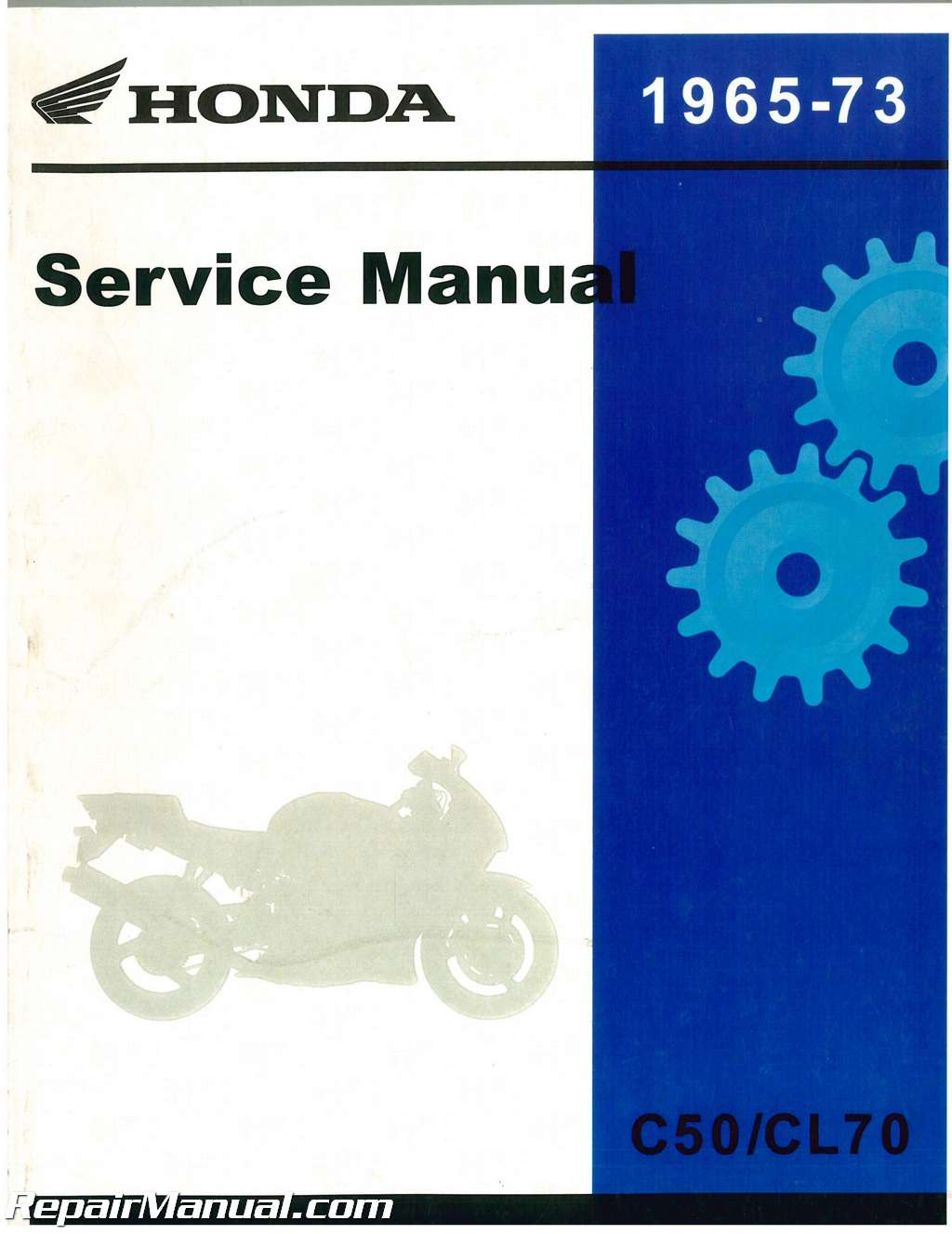 official 1965 1973 honda c50 c50m cl70 cd70 c65 c65m c70 s50 s65 rh repairmanual com honda c50 service manual greek Honda Z50