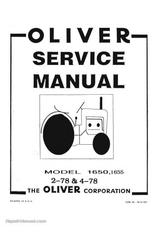 oliver 550 tractor parts manual rh repairmanual com Oliver 70 Wiring-Diagram Oliver Tractor Battery Wiring Diagram