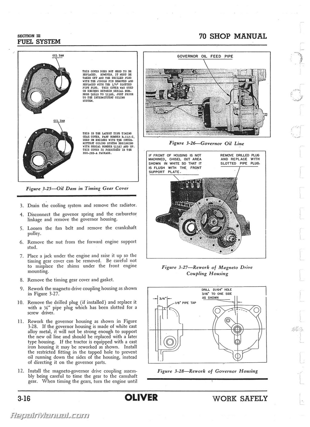Oliver 70 Wiring Diagram Magneto Great Installation Of International Harvester M Wire Row Crop Tractor Service Manual Rh Repairmanual Com Briggs Diagrams Small Engine