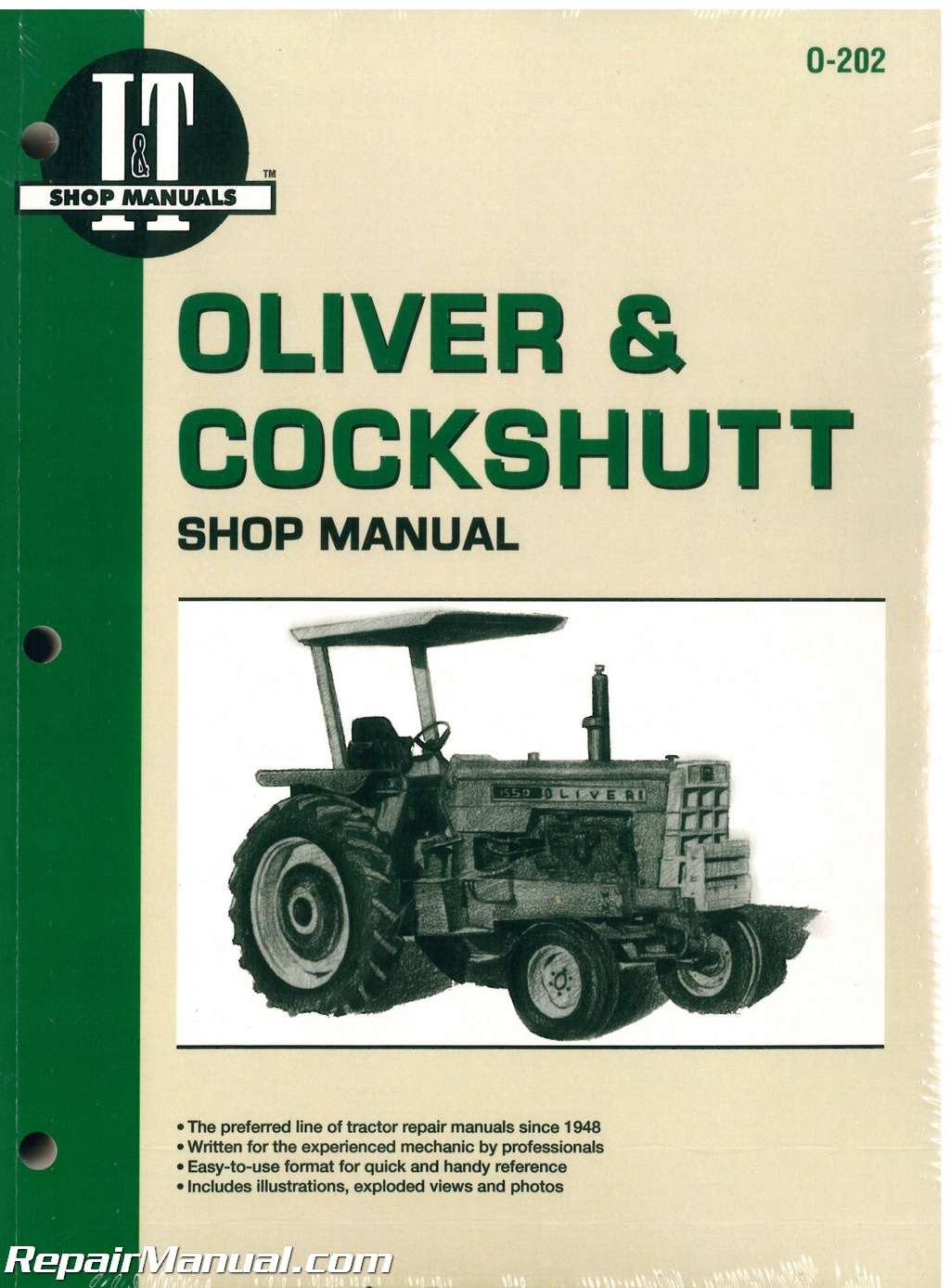 Oliver & shutt G / T Series Farm Tractor Repair Manual on